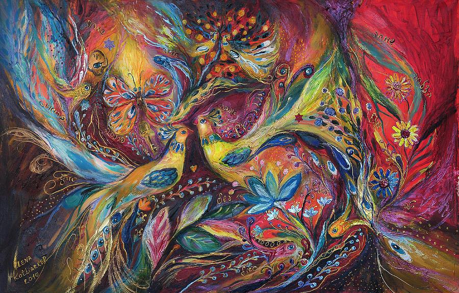 Original Painting - The Elegy by Elena Kotliarker
