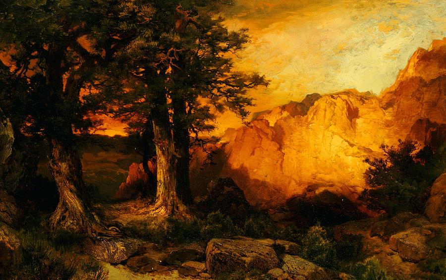 Thomas Moran Painting - The Grand Canyon by Thomas Moran