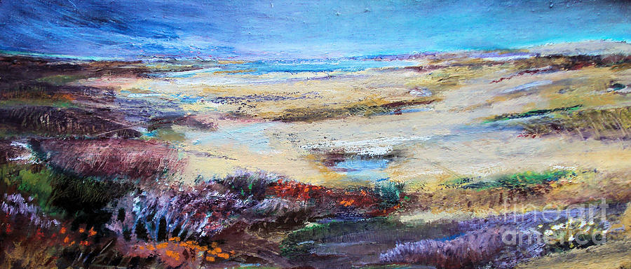Dunes Painting - The Inlet by Diane Ursin