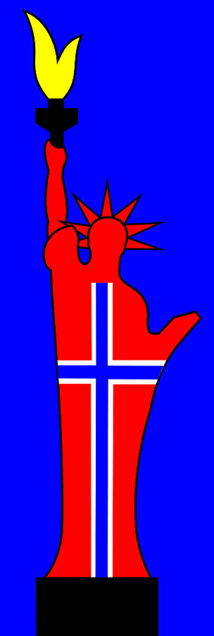 The Norwegian Statue Of Liberty Digital Art