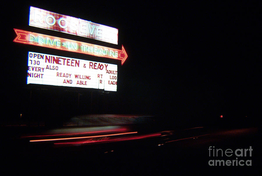 Drive Inn Theaters Photograph - The Roosevelt Drive Inn by Corky Willis Atlanta Photography
