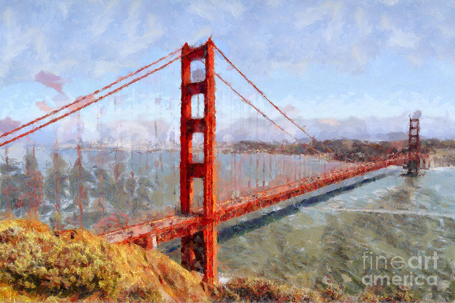 San Francisco Photograph - The San Francisco Golden Gate Bridge . 7d14507 by Wingsdomain Art and Photography
