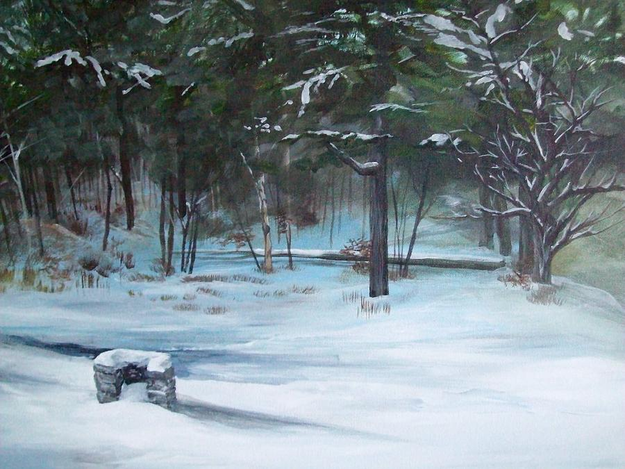 Landscape Painting - The Season Has Changed by Chris Wing