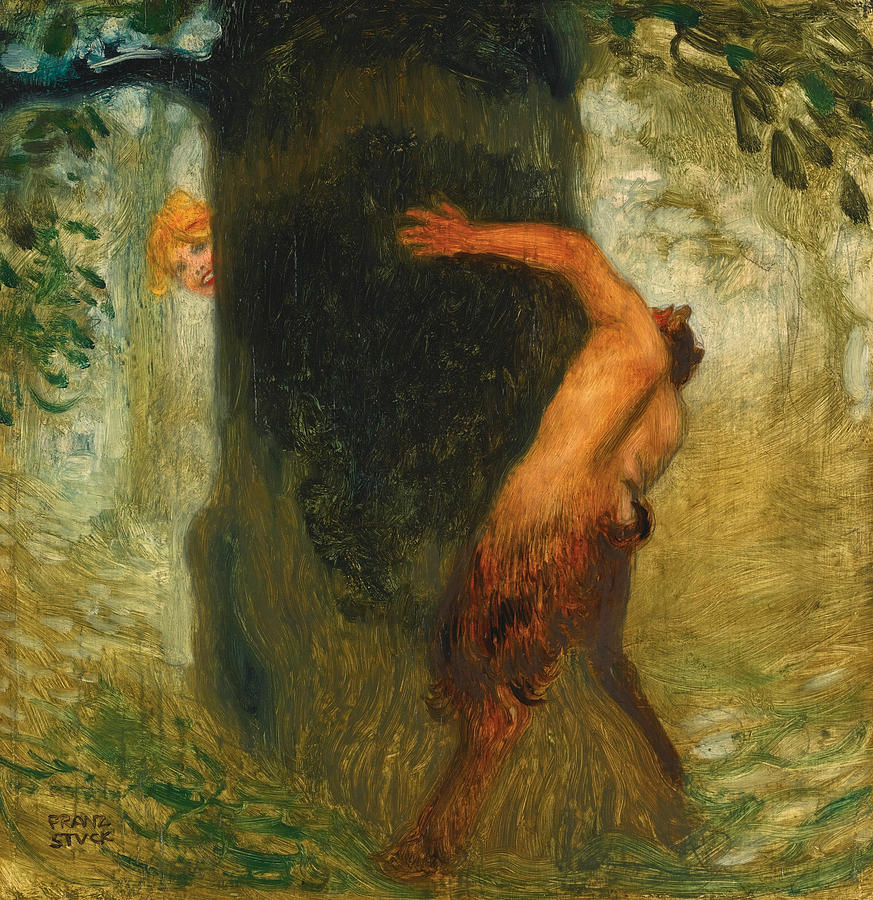 The Tease is a painting by Franz von Stuck which was uploaded on March ...