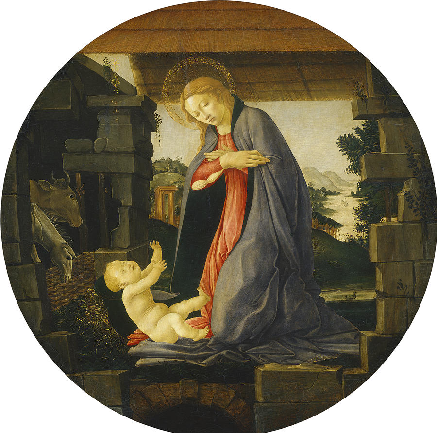 The Virgin Adoring The Child Painting