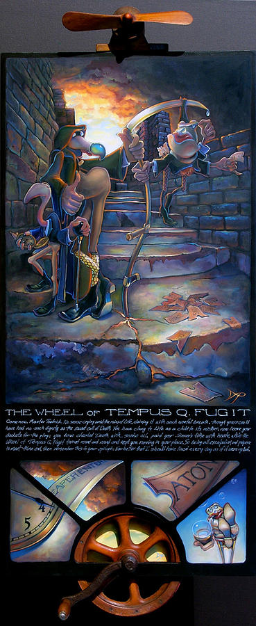 Mermaid Painting - The Wheel Of Tempus Q. Fugit by Patrick Anthony Pierson