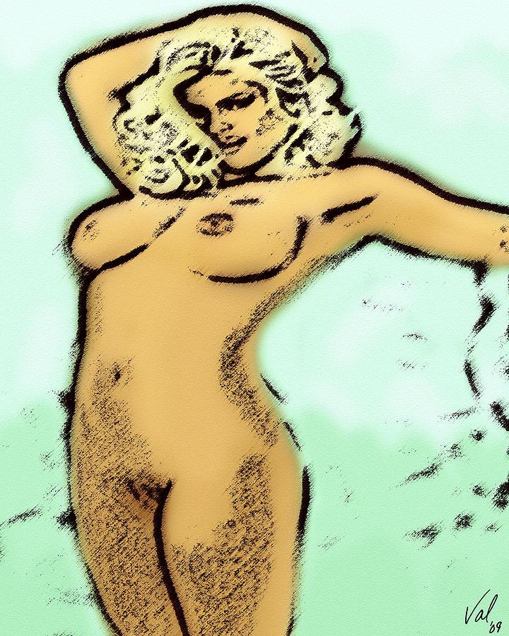 Nude Digital Art - Tragic Beauty by Val Designs