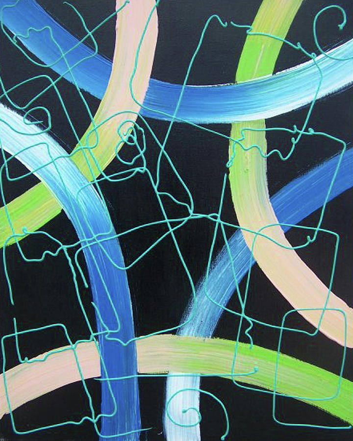 Abstract Painting - Tron by Nino  B