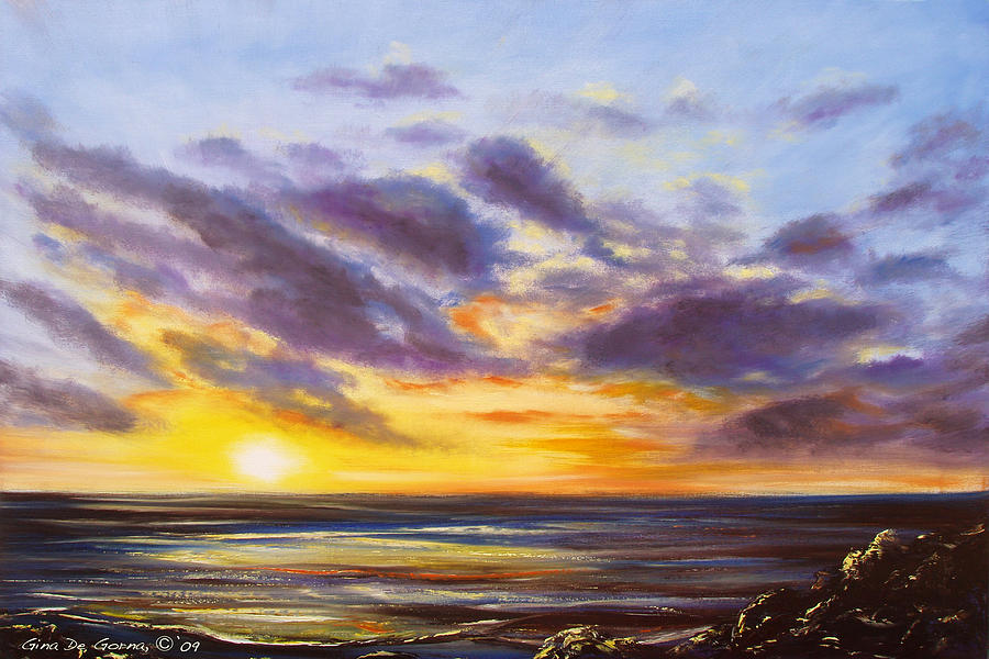 Tropical Painting - Tropical Sunset by Gina De Gorna