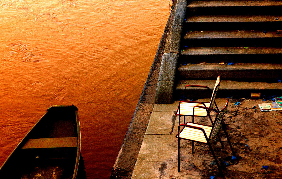 Two Chairs By The Stairs Photograph