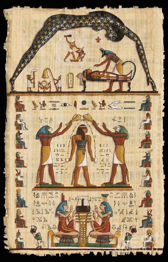 Egypt Painting - Twokupamun Papyrus by Richard Deurer
