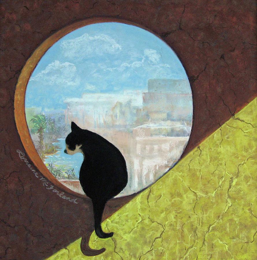 Cat Pastel - Un Gato De La Isla Mujeres - Pastel by Lorraine McFarland