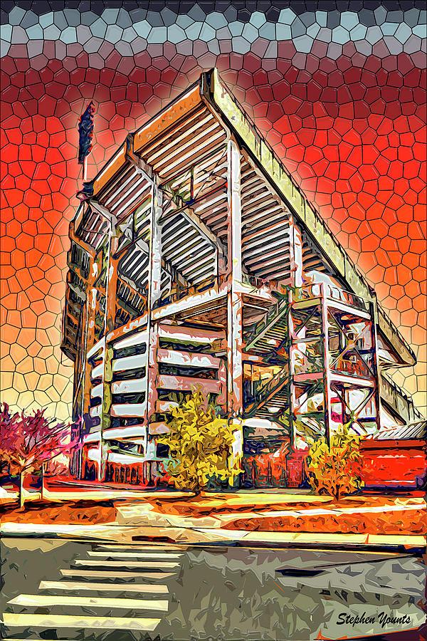 University Digital Art - University Of Maryland - Byrd Stadium by Stephen Younts