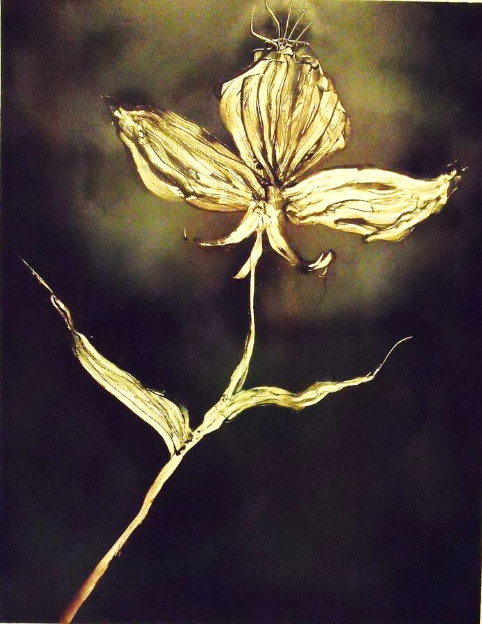 Flower Painting - Untitled by Anna Villarreal Garbis