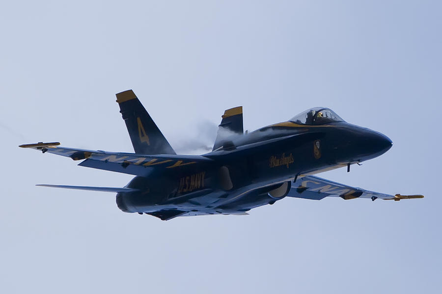 Us Navy Photograph - Us Navy Blue Angels High Speed Turn by Dustin K Ryan
