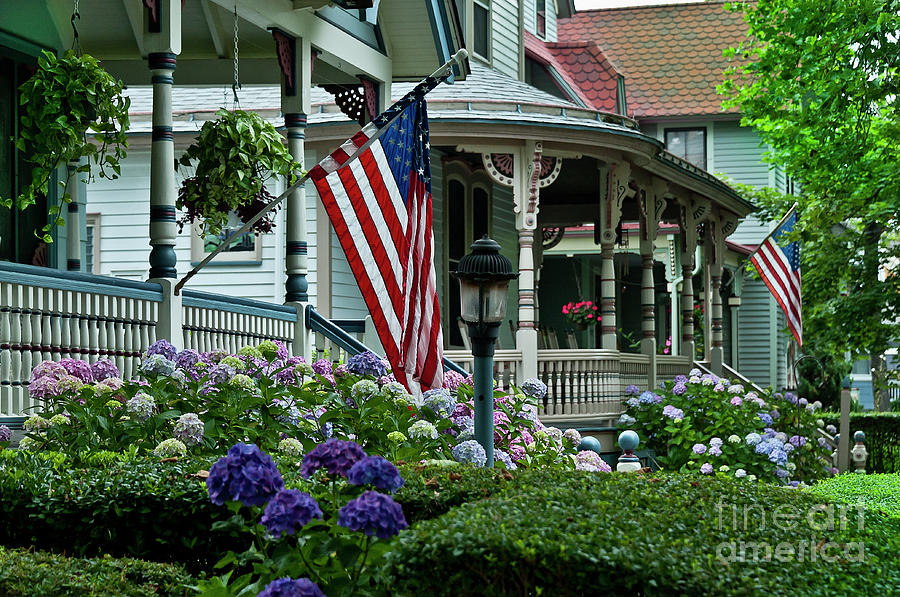American Photograph - Victorian House And Garden. by John Greim