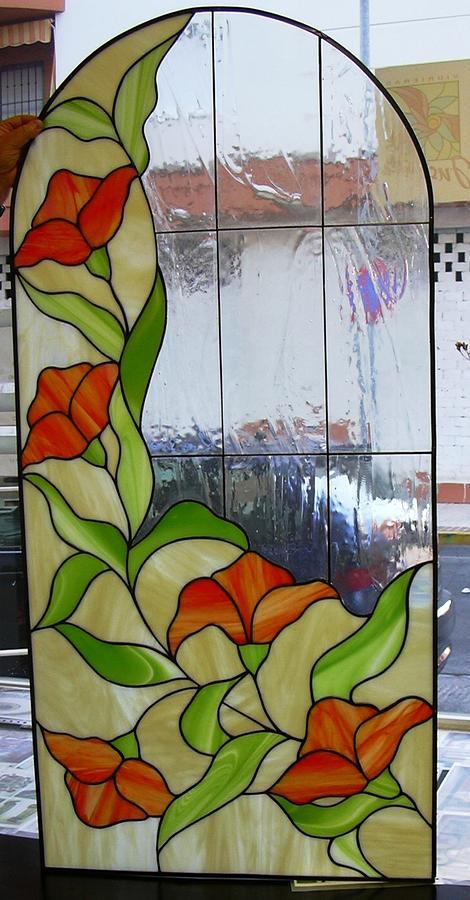 Vidriera de flores glass art by justyna pastuszka - Como hacer una vidriera ...