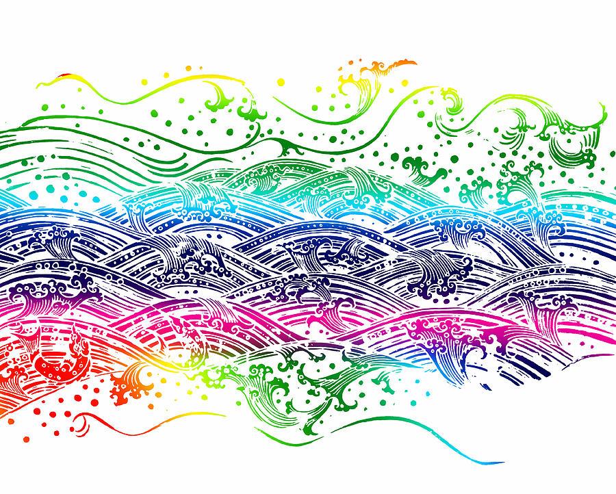 Abstract Painting - Water Pattern by Setsiri Silapasuwanchai