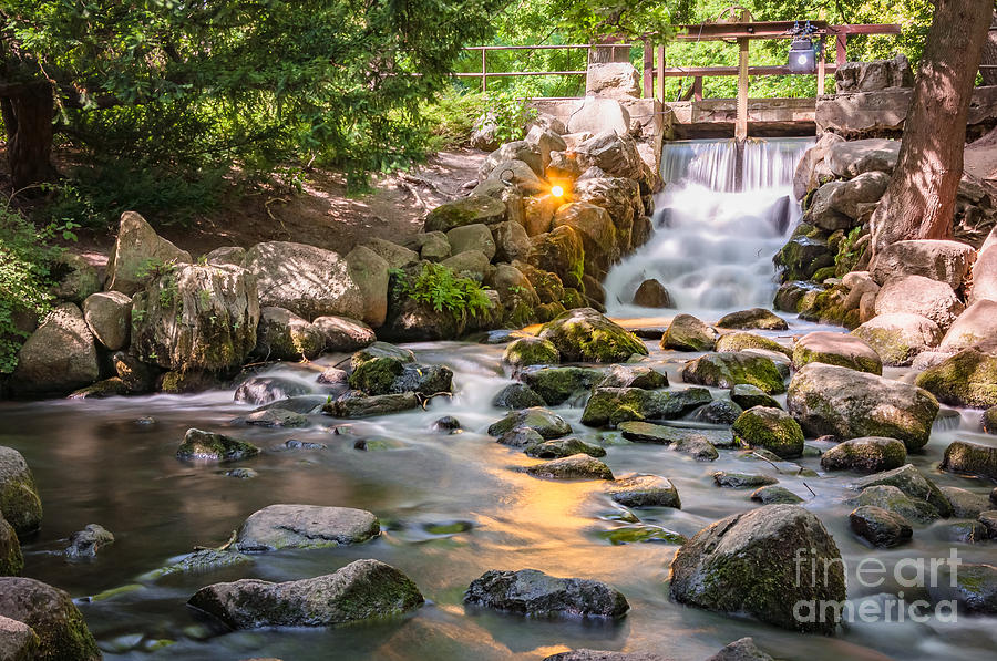 Waterfall In Gdansk Oliwa Park Photograph