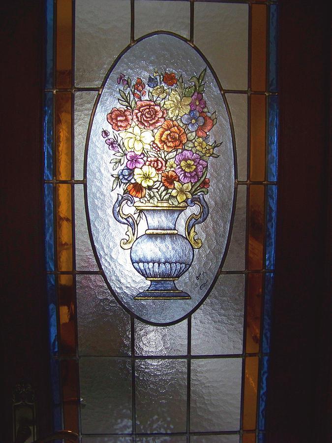 Flores Glass Art - Wazon Z Kwiatami by Justyna Pastuszka