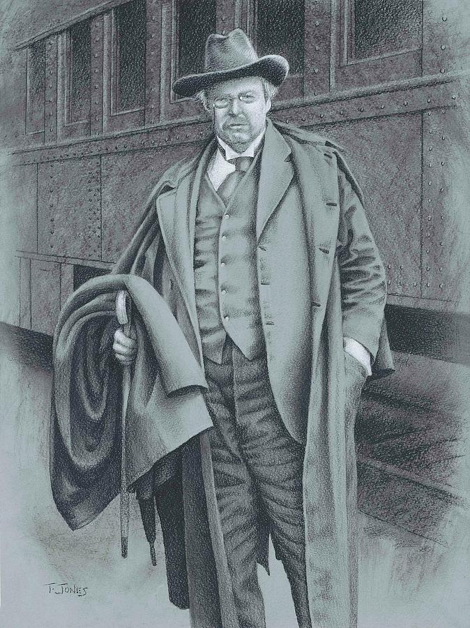 G.k. Chesterton Drawing - Where Ought I  Be by Timothy Jones