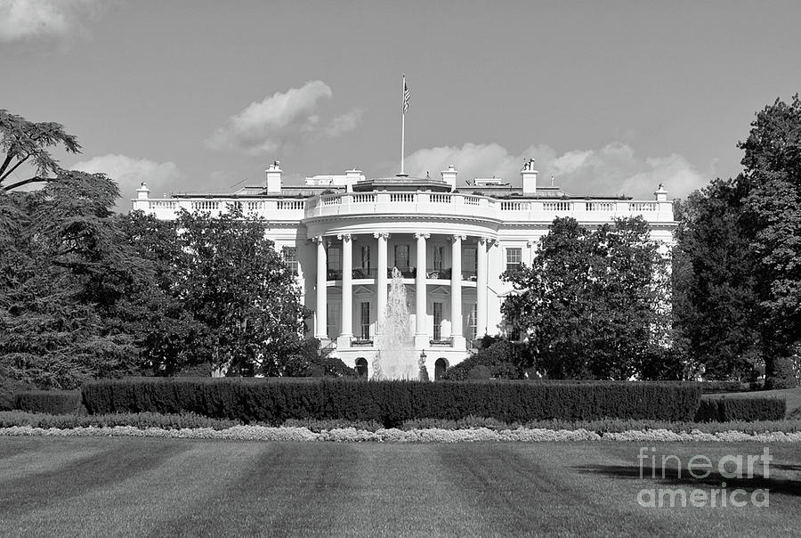 White House South Lawn Washington Dc Photograph