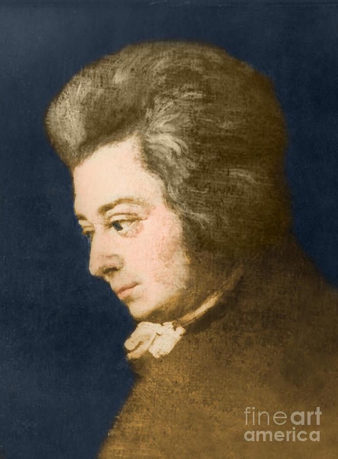 History Photograph - Wolfgang Amadeus Mozart, Austrian by Omikron