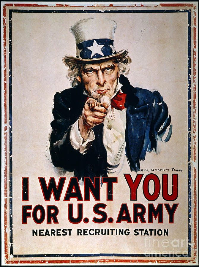 1918 Photograph - World War I: Uncle Sam by Granger