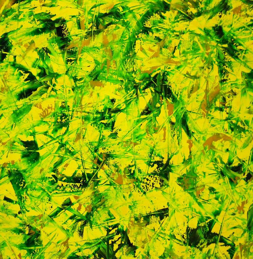 abstract yellow green drawing - photo #20