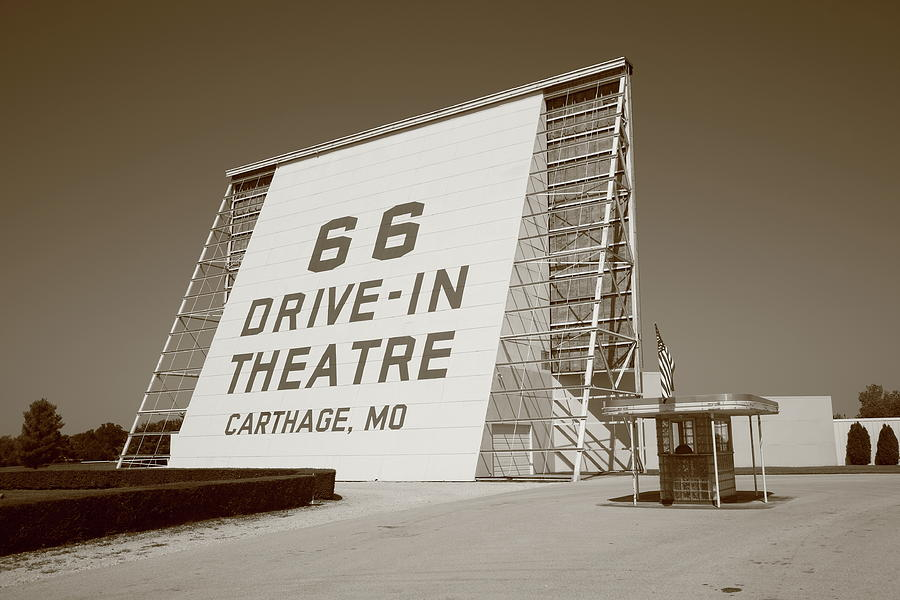 66 Photograph - Route 66 - Drive-in Theatre by Frank Romeo