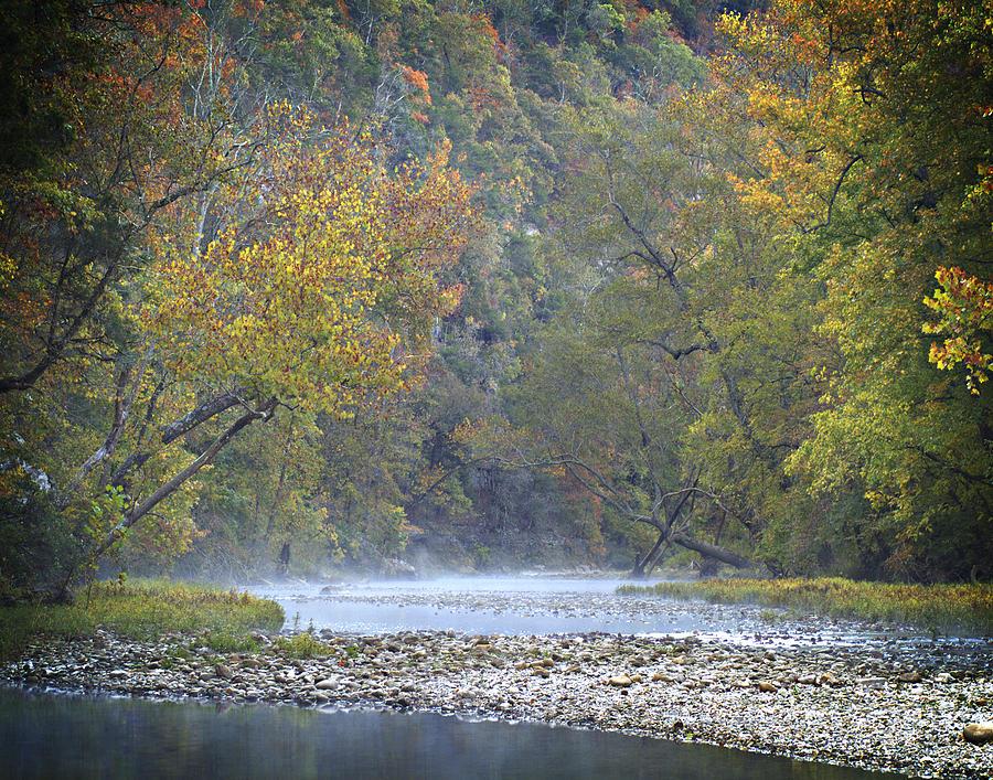 Arkansas Photograph - 1010-3979 Buffalo River Boxley Valley Fall by Randy Forrester