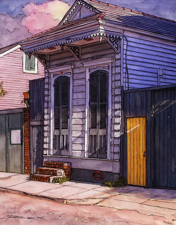 11 Evening Shadows On Shotgun House Painting By John Boles