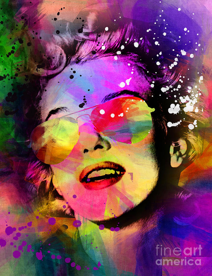 Pop Art Painting - Marilyn Monroe  by Mark Ashkenazi