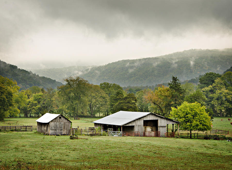 Barn Photograph - 1209-1116 - Boxley Valley Barn by Randy Forrester