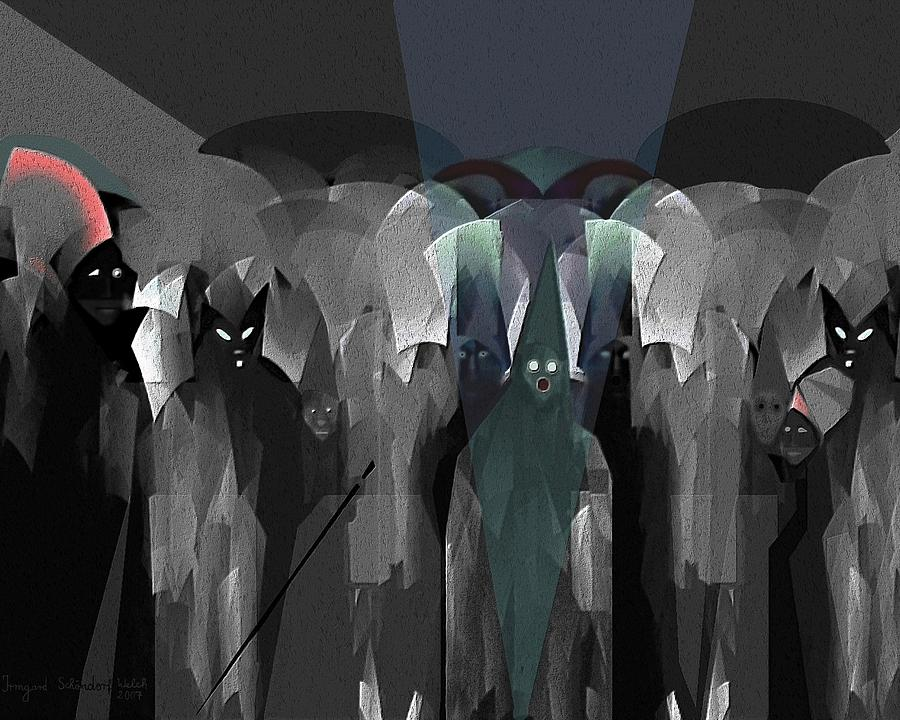 Ghost Digital Art - 127 -  Nightwalkers Dark by Irmgard Schoendorf Welch