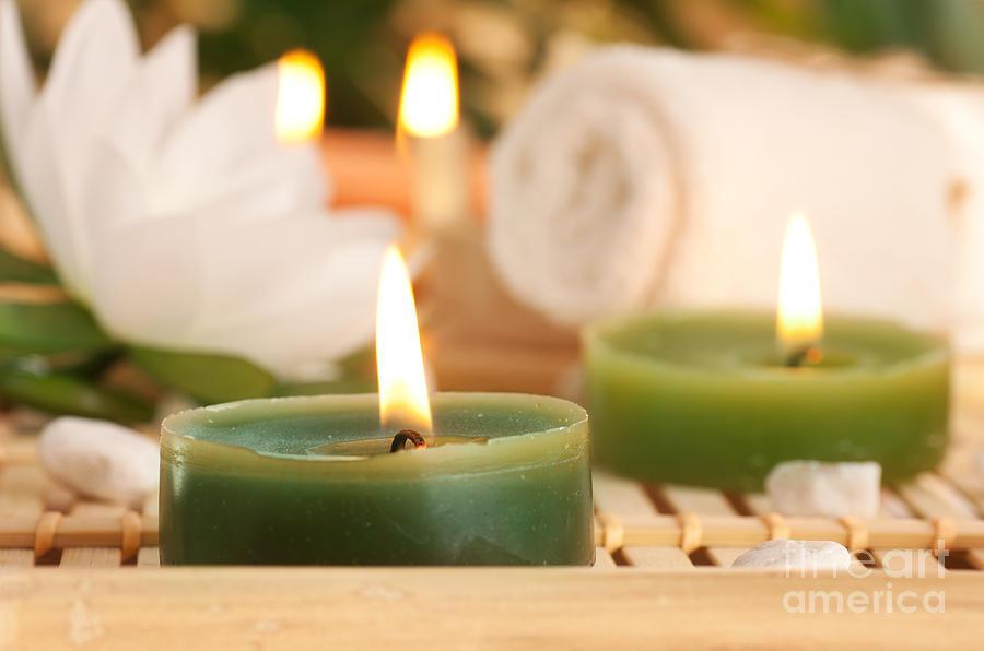 Aroma Photograph - Spa Setting  by Mythja  Photography