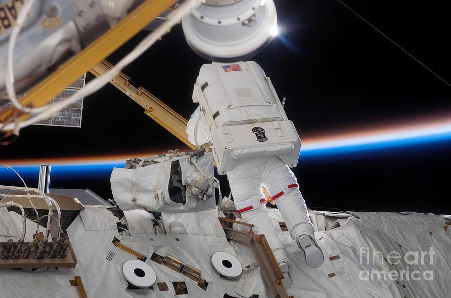 Astronaut Participates Photograph