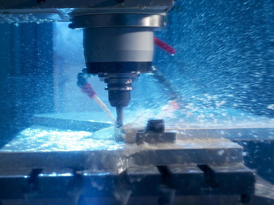 Milling Machine Photograph - Metalwork by Tek Image