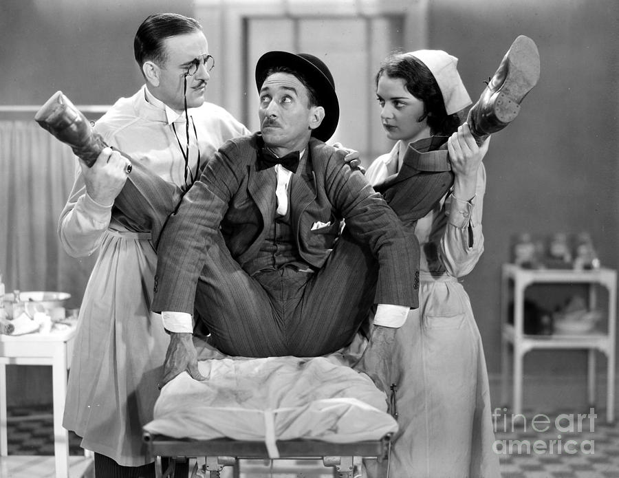 -doctors & Illness- Photograph - Silent Film Still: Doctor by Granger