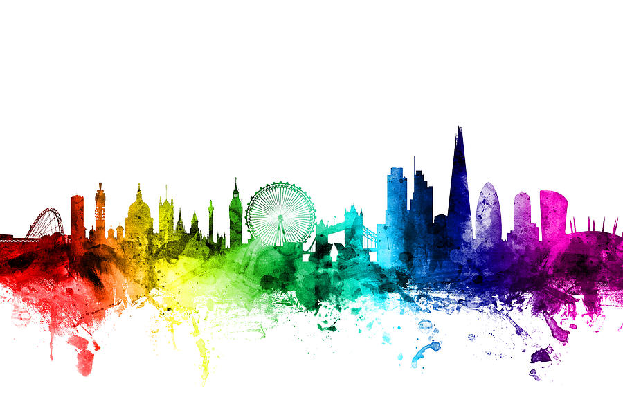 London England Skyline Digital Art By Michael Tompsett