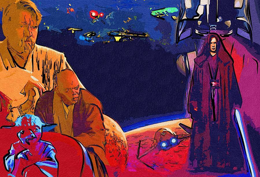 star wars saga poster digital artstar wars