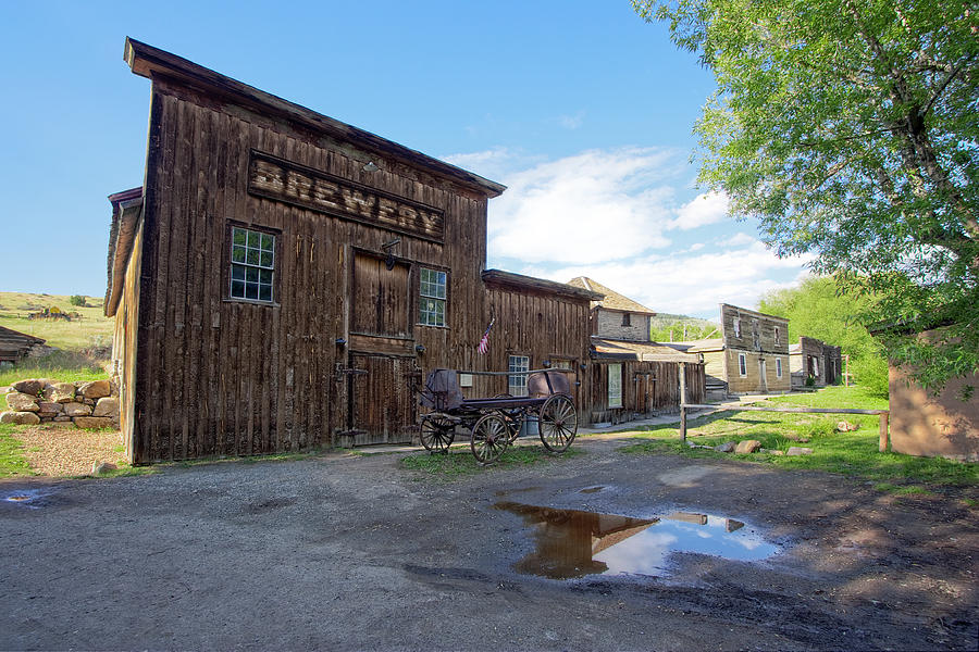 Brewery Photograph - 1863 H. S. Gilbert Brewery - Virginia City Ghost Town by Daniel Hagerman