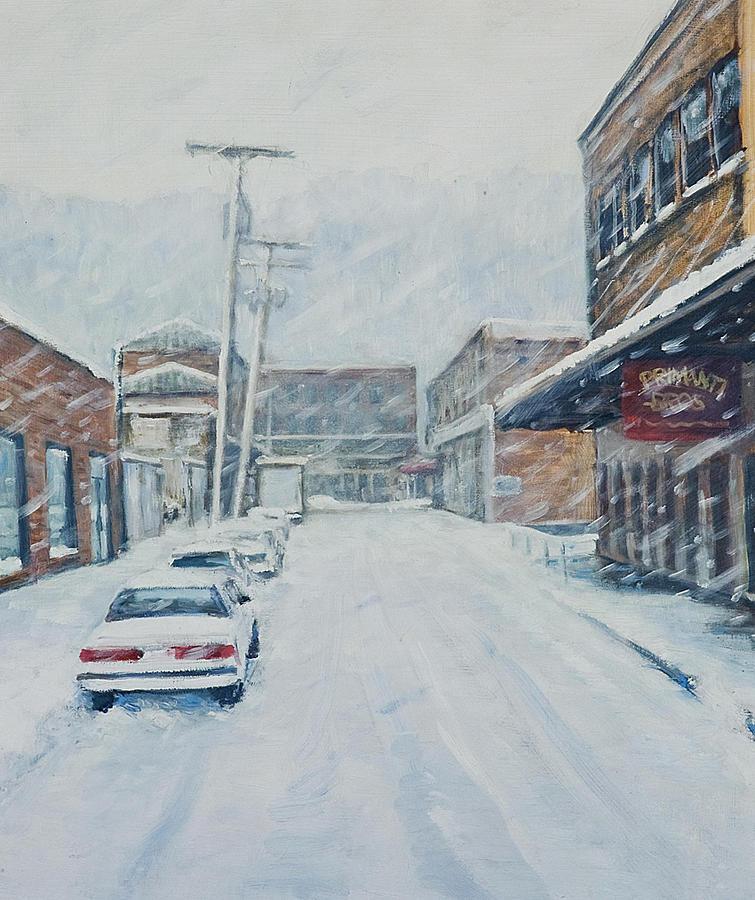 Landscape Painting - 18th From Smallman by Erik Schutzman
