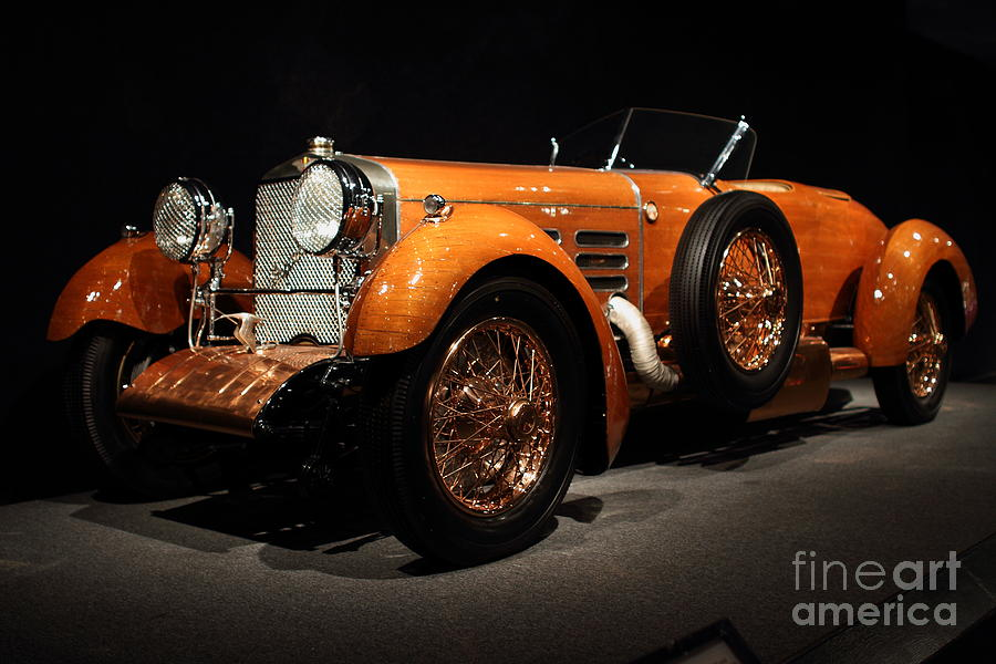 Suiza Photograph - 1924 Hispano Suiza Dubonnet Tulipwood . Front Angle by Wingsdomain Art and Photography