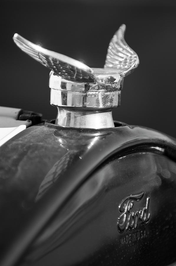 1925 Ford Model T Photograph - 1925 Ford Model T Hood Ornament 2 by Jill Reger