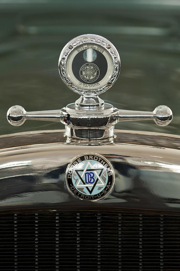 1926 Dodge Woody Wagon Photograph - 1926 Dodge Woody Wagon Hood Ornament by Jill Reger