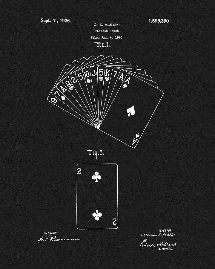 1926 Playing Cards Drawing