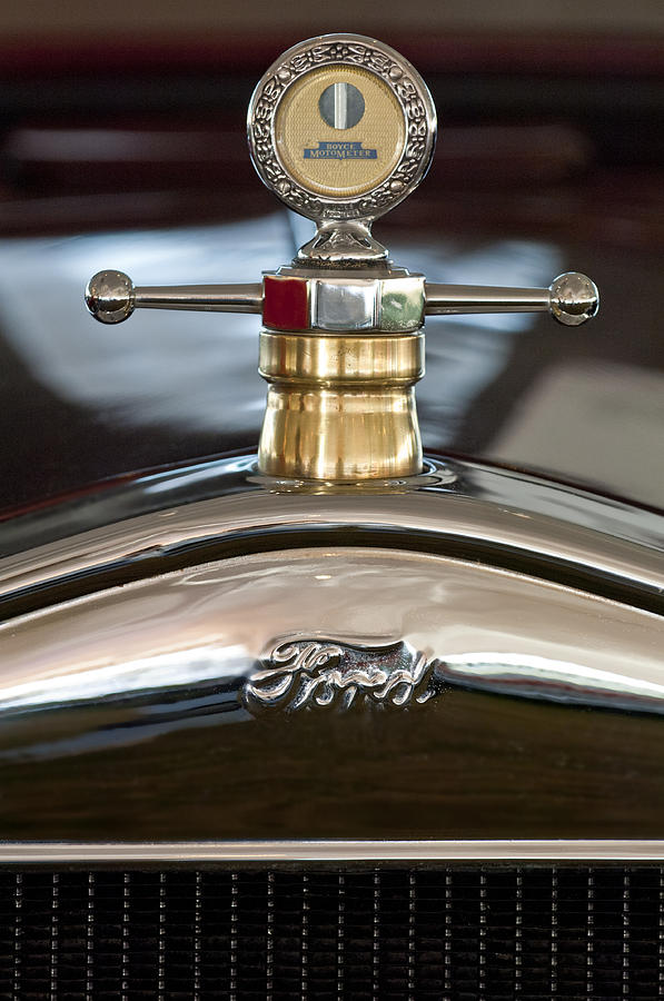 1927 Ford T Roadster Photograph - 1927 Ford T Roadster Hood Ornament by Jill Reger