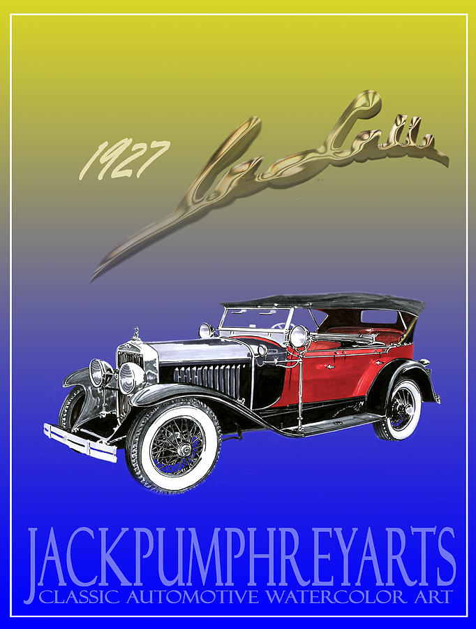 Posters Of Early Classic Luxury Cars From The Nineteen Twentys. Posters  Of Classic Automotive Art. Car Posters By Jack Pumphrey Painting - 1927 Lasalle by Jack Pumphrey