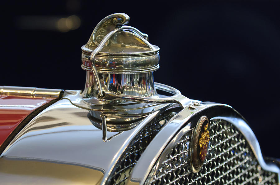 1929 Packard 8 Convertible Coupe Photograph - 1929 Packard 8 Hood Ornament 3 by Jill Reger